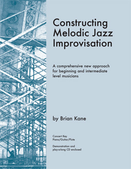 Constructing Melodic Jazz Improvisation book for Concert Key
